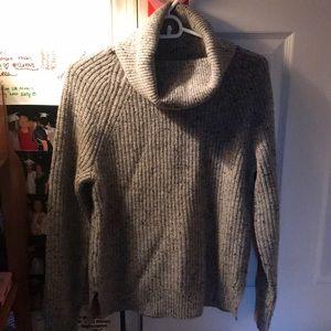 J. Crew grey turtleneck sweater